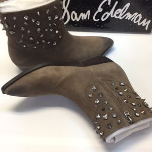 Sam Edelman Booties Dark Taupe 7.5